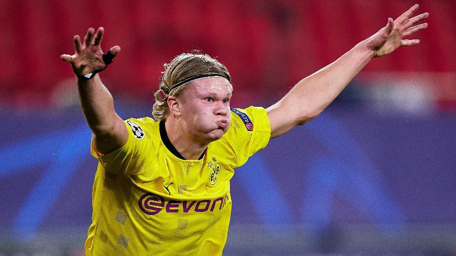 Erling Haaland é alvo de gigantes europeus - Mateo Villalba/Quality Sport Images/Getty Images