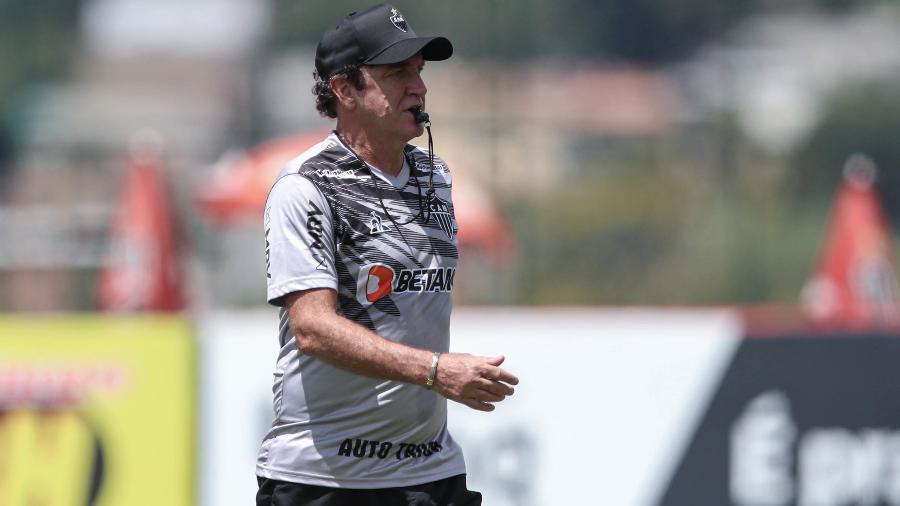 Cuca volta ao Atlético-MG e deve trabalhar com até 30 jogadores, como fez em outras temporadas - Pedro Souza/Atlético-MG