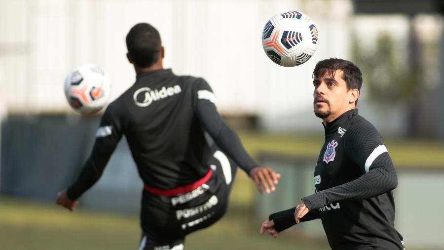 Fagner em treino do Corinthians no CT Dr. Joaquim Grava - Rodrigo Coca/Agência Corinthians