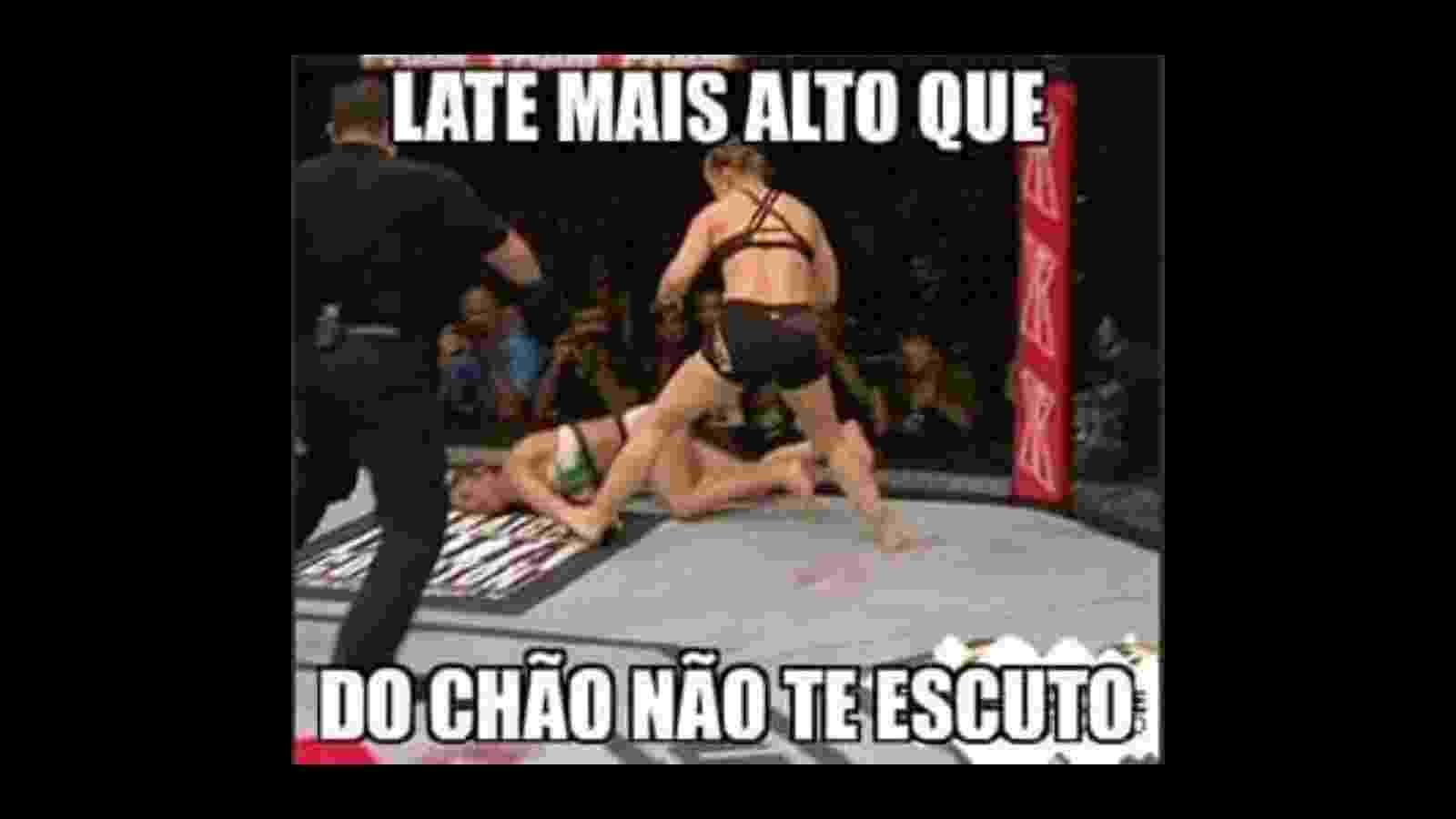 Torcedores fazem piadas na Internet com a vitória de Ronda Rousey sobre Bethe Correia - Reprodução