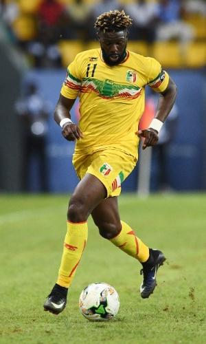Bakary Sako, da seleção de Mali, na Copa Africana de Nações 2017