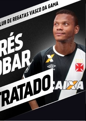 O colombiano Andrés Escobar é o mais reforço do Vasco para a temporada 2017
