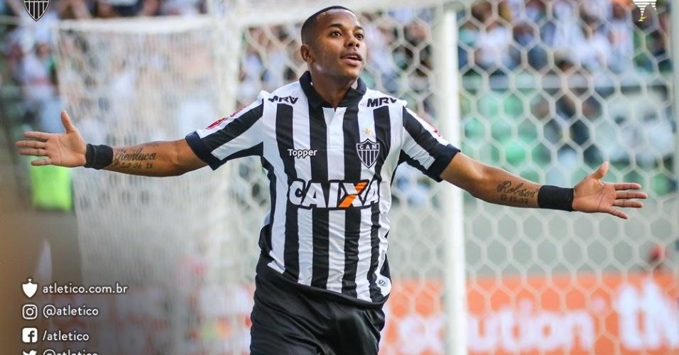 Robinho fez um dos gols do Atlético-MG na final do Campeonato Mineiro, contra o Cruzeiro