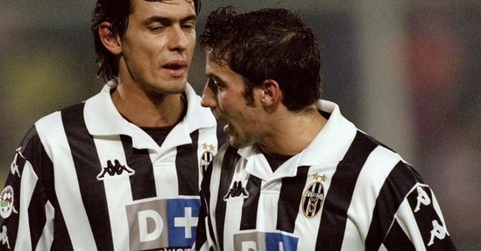 Inzaghi e Del Piero fizeram uma dupla bem-sucedida com a camisa da Juventus