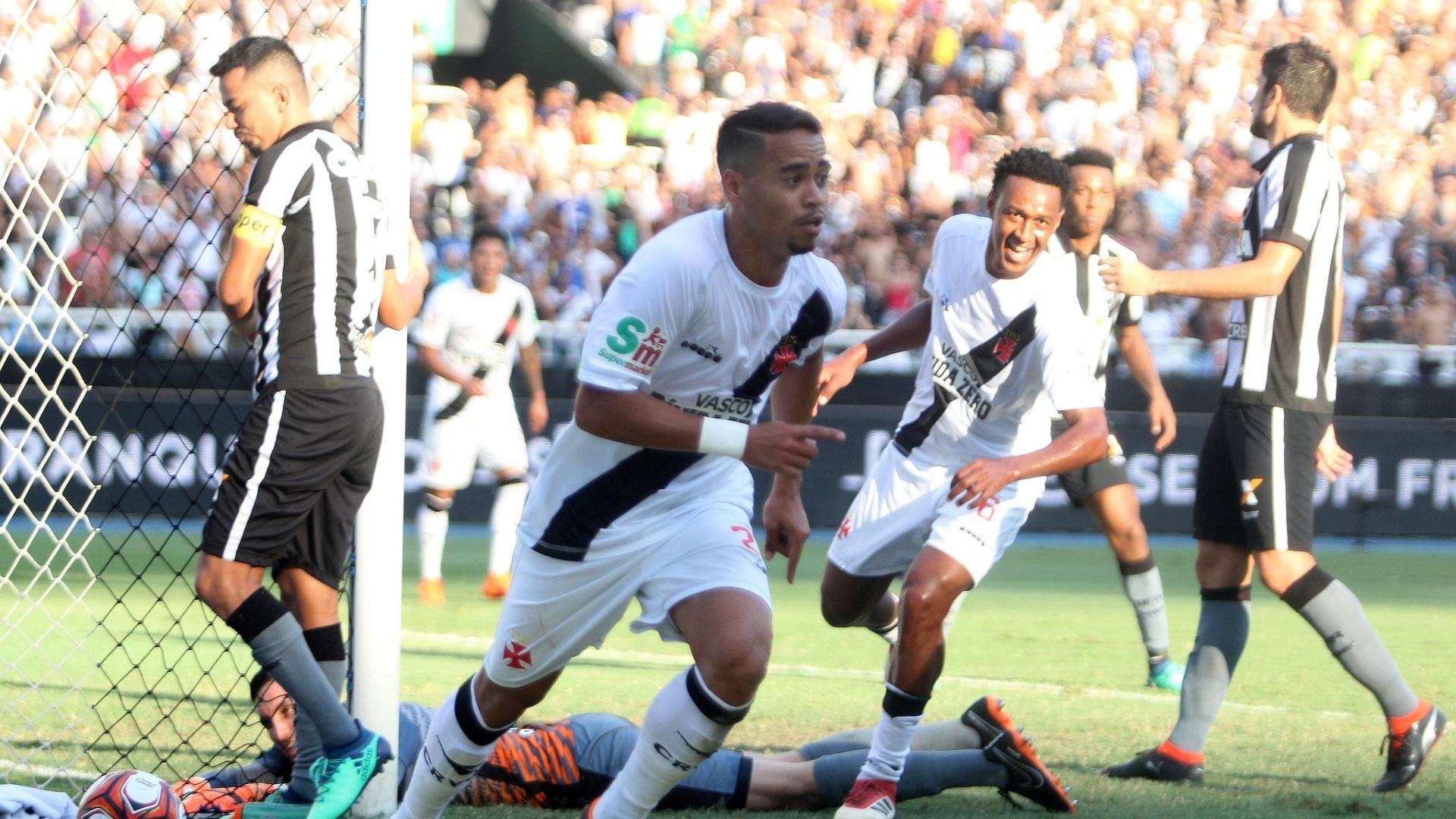 Yago Pikachu comemora gol do Vasco contra o Botafogo pelo Campeonato Carioca