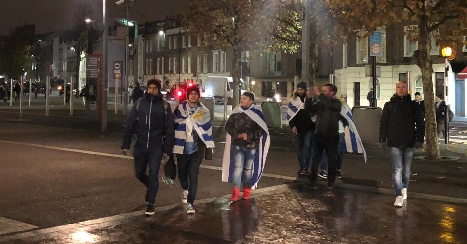 Brasil Uruguai torcedores uruguaios