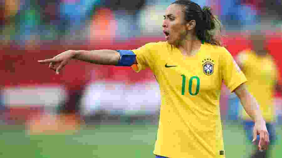 Marta defende a seleção brasileira na Copa do Mundo de 2015 - William Volcov/Brazil Photo Press/LatinContent/Getty Images