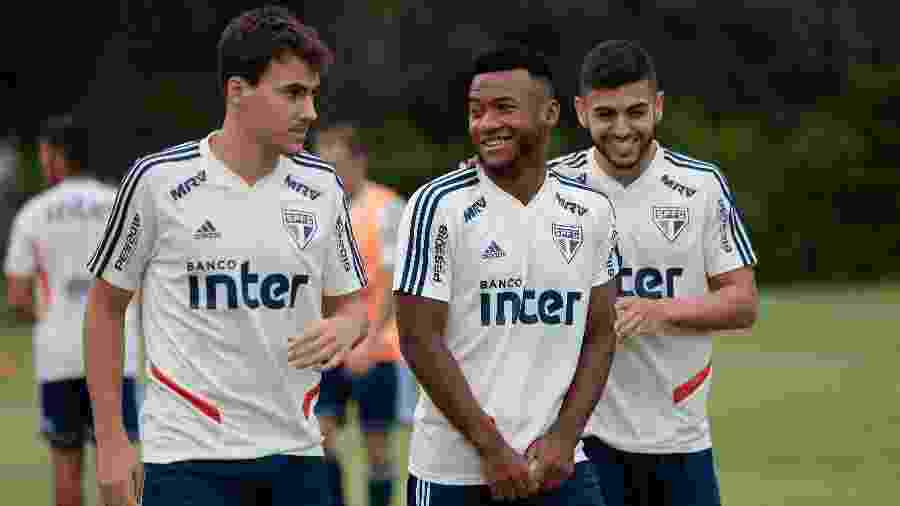 Igor Gomes, Luan e Liziero, do São Paulo, têm experiência em finais com a camisa tricolor - Marcello Zambrana/AGIF