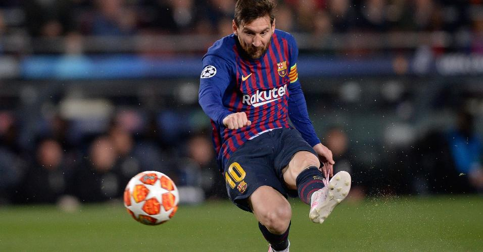 Lionel Messi canhota Barcelona Manchester United