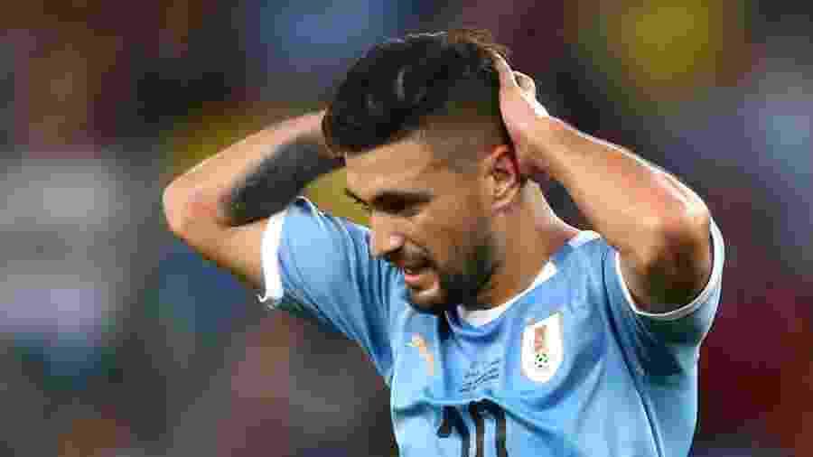 Giorgian de Arrascaeta, na partida Chile x Uruguai pela Copa América 2019 - Pilar Olivares/Reuters