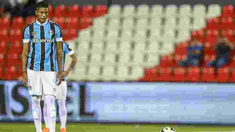 Jean Pyerre tem 32 jogos disputados no ano e virou titular após afastamento de Luan - Lucas Uebel/Grêmio FBPA