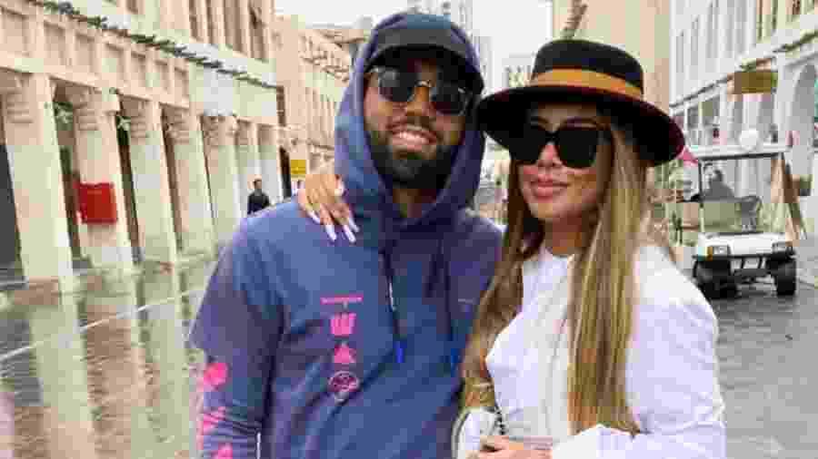Gabigol passeia com a namorada, Rafaella Santos, no Qatar - Reprodução/Instagram