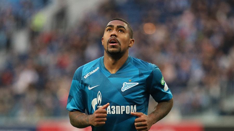 Atacante Malcom em ação pelo Zenit durante jogo do Campeonato Russo - SOPA Images/SOPA Images/LightRocket via Gett