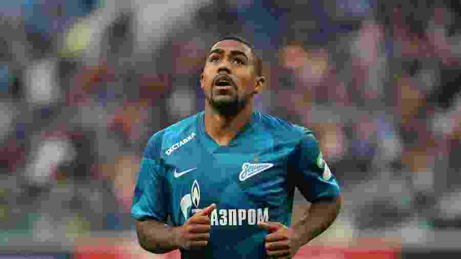 O atacante Malcom, do Zenit, que lidera o campeonato russo com 50 pontos  - SOPA Images/SOPA Images/LightRocket via Gett