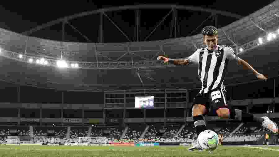 Bruno Nazário, meia do Botafogo, em partida contra o Bahia - Vitor Silva / Botafogo