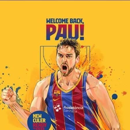 Pau Gasol retornou ao Barcelona - Divulgação/Barcelona