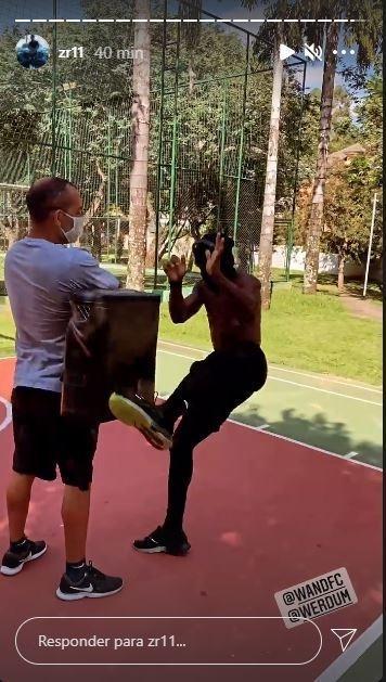 Zé Roberto treinando MMA