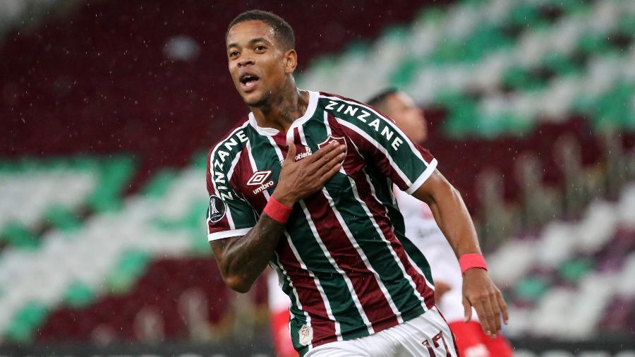 Caio Paulista comemora gol do Fluminense contra o Independiente Santa Fe pela Libertadores - Sergio Moraes-Pool/Getty Images