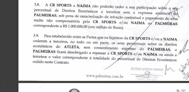 Contrato prevê que ninguém pode repassar direitos de Gabriel Jesus sem avisar o Palmeiras - Reprodução - Reprodução