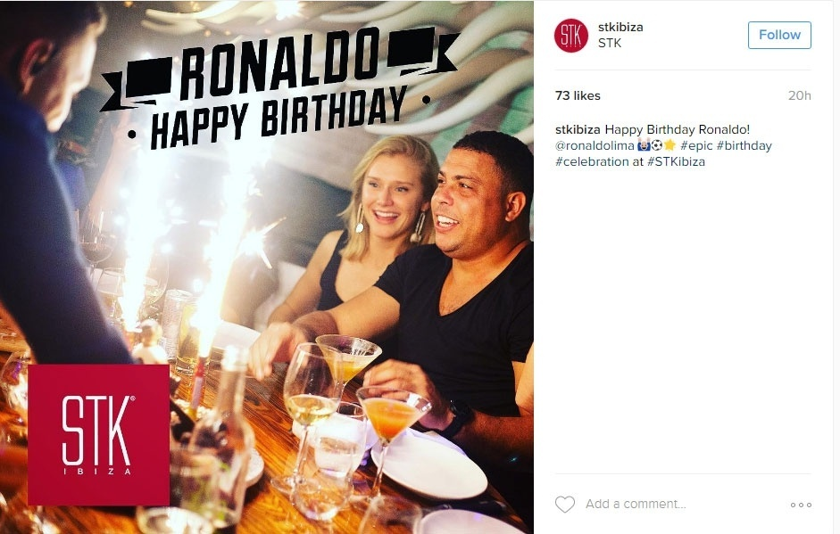 Ronaldo comemora aniversário em Ibiza