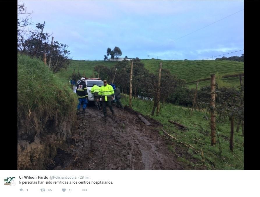 Equipes de resgate relataram dificuldades para chegar aos escombros do avião