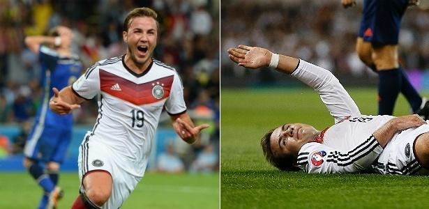 Mario Gotze em dois momentos: do êxtase na final da Copa ao atual drama físico