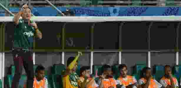Cuca estreia nova calça com a cor da sorte e o símbolo do Palmeiras - Cesar Greco/Divulgação/Ag. Palmeiras - Cesar Greco/Divulgação/Ag. Palmeiras