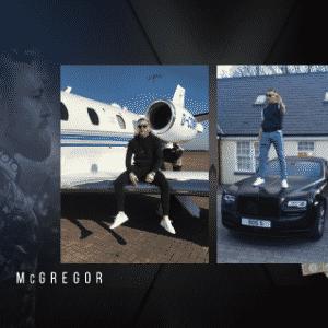 """McGregor em seu jatinho personalizado e """"esbanjando carisma"""" em cima de um de seus carros - Reprodução/Instagram"""