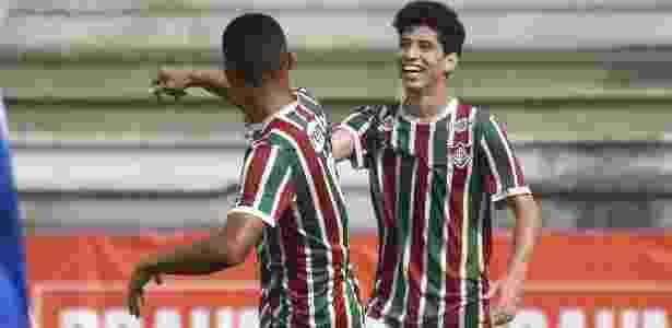 Yago comemora seu gol pelo sub-17 do Fluminense - Mailson Santana/Fluminense - Mailson Santana/Fluminense