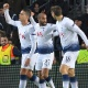 Lucas Moura comemora gol em classificação do Tottenham e sonha com título