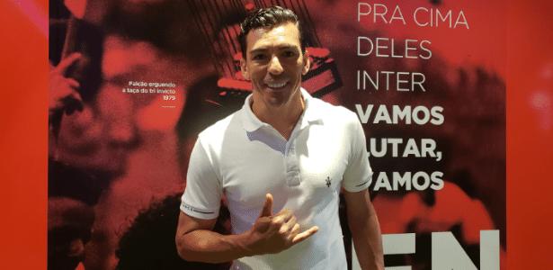 """Lúcio, durante evento beneficente de D""""Alessandro, no Beira-Rio - Divulgação"""