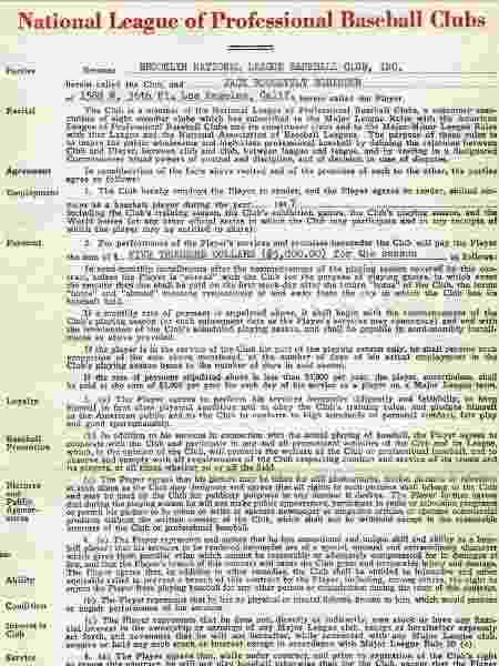 Jackie Robinson MLB contrato - Reprodução/TMZ - Reprodução/TMZ