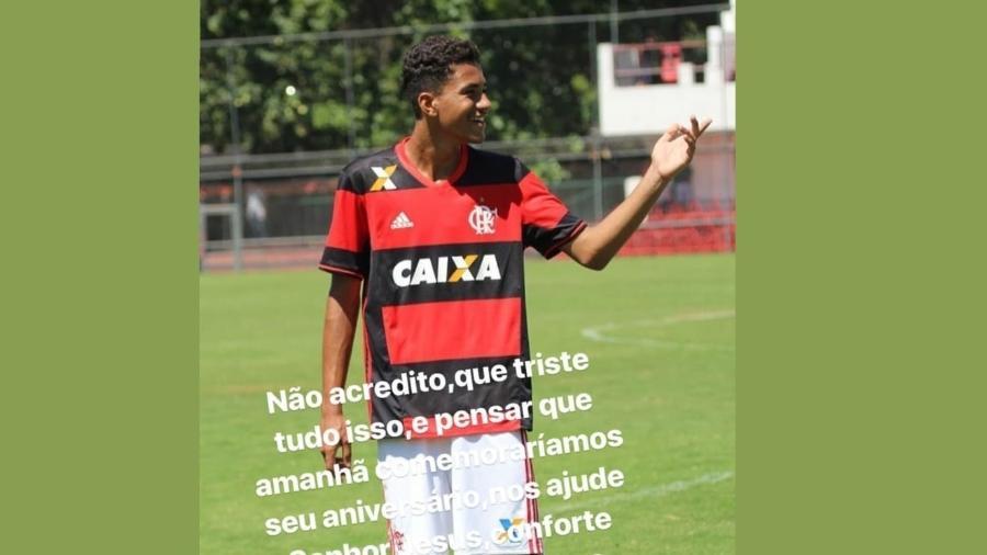 """Uma das vítimas do incêndio, Arthur Vinícius era """"afilhado"""" de Felipe Melo - Reprodução/Instagram"""