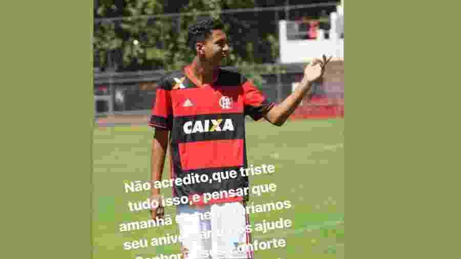 574006f9b0 Felipe Melo lamenta morte de  afilhado  vítima de tragédia no CT do Fla
