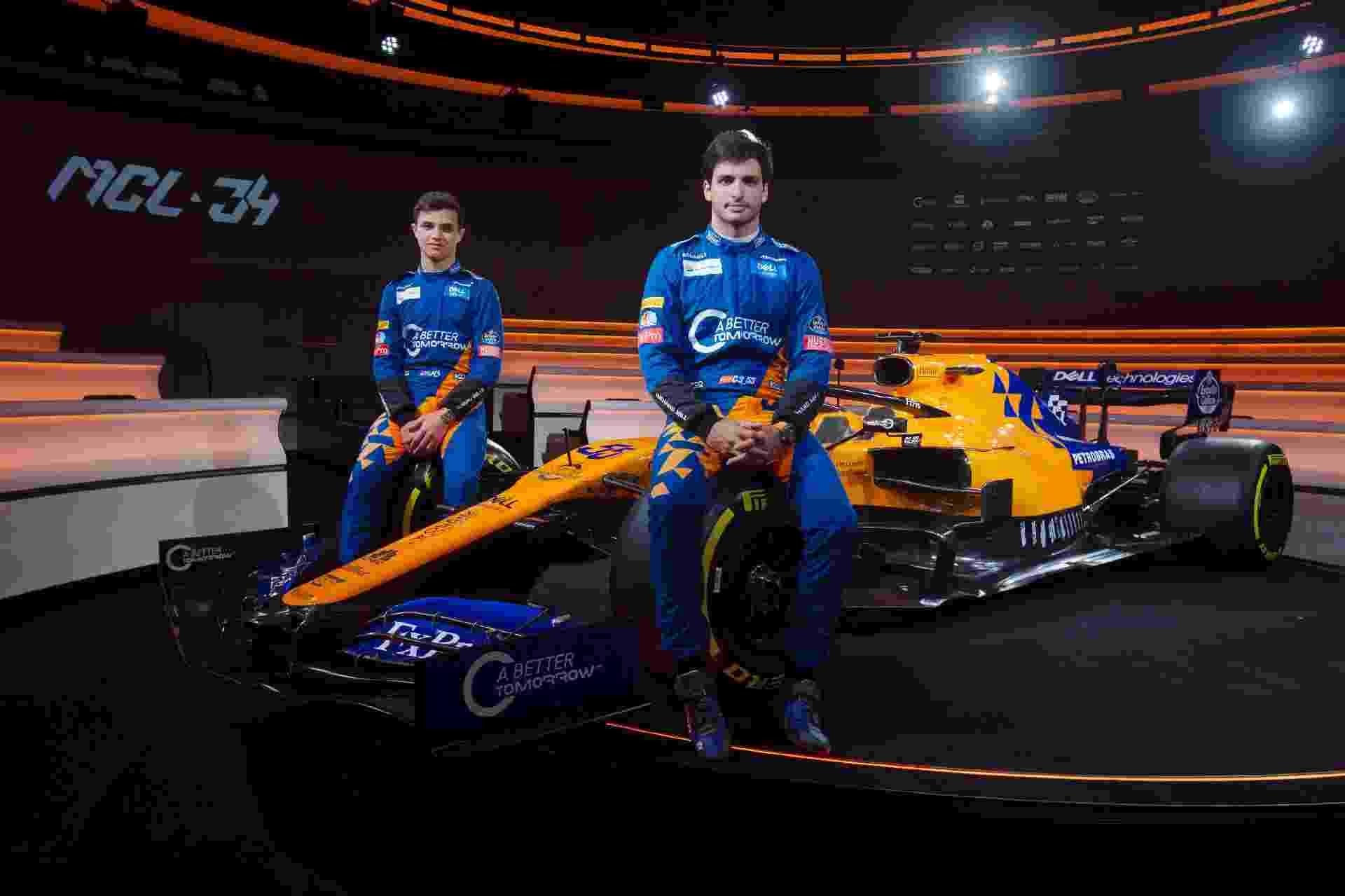 Carlos Sainz e Lando Norris serão os pilotos da McLaren em 2019 - Divulgação