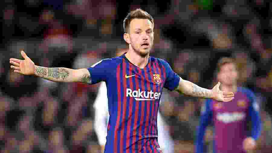 O jogador Rakitic, do Barcelona - LLUIS GENE/AFP