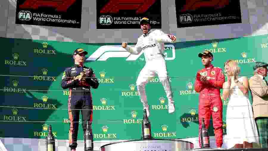 Lewis Hamilton celebra vitória no GP da Hungria de 2019 - Lisi Niesner/Reuters