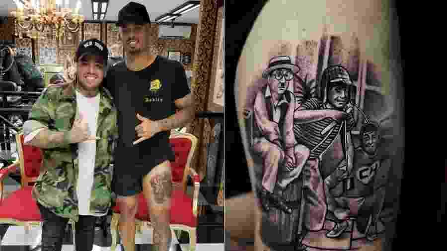 Gabriel Jesus faz tatuagem do Chaves e do Chapolin - Reprodução/Instagram