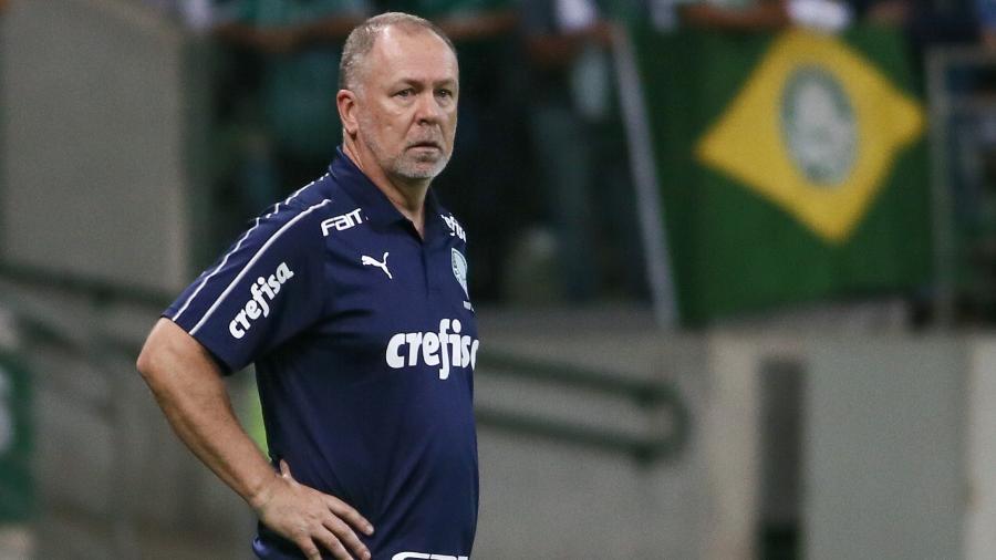Mano Menezes, técnico do Palmeiras, no jogo dramático contra a Chapecoense - Marcello Zambrana/AGIF
