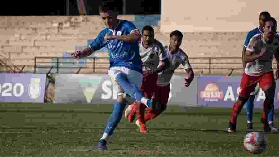 Laércio, do São Bento, é um dos jogadores infectados com Covid-19 - Divulgação