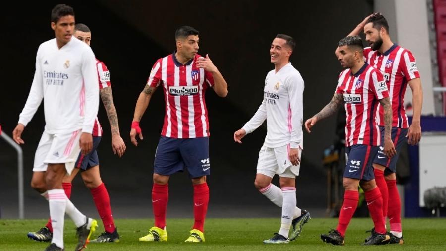 Luis Suarez marcou para o Atlático de Madri sobre o Real Madrid pelo Campeonato Espanhol - Diego Souto/Quality Sport Images/Getty Images