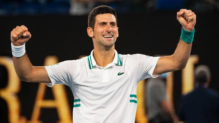Novak Djokovic na final do Australian Open de 2021 - Getty Images