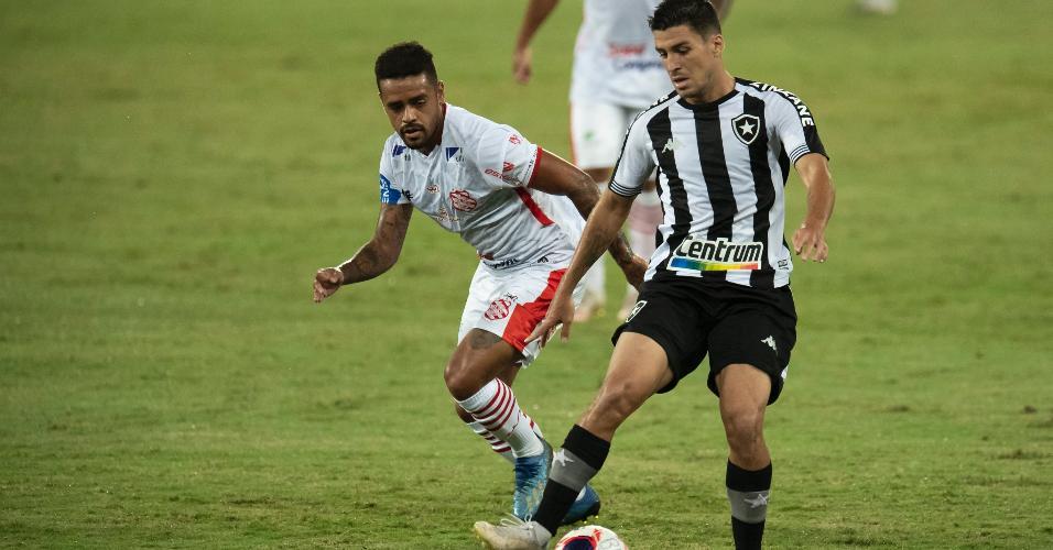 Marcinho, jogador do Botafogo, durante partida contra o Bangu pelo Carioca