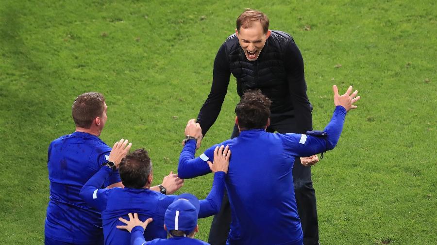 Thomas Tuchel comemora título do Chelsea na Liga dos Campeões - Marc Atkins/Getty Images