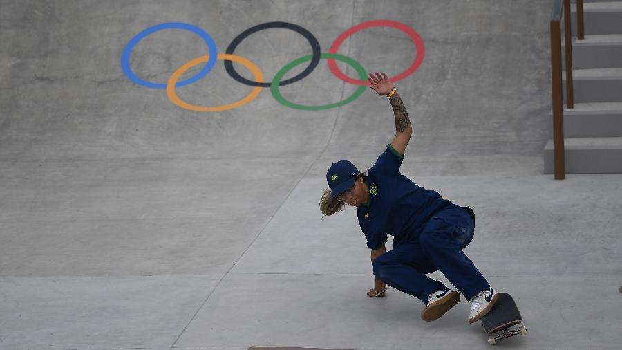 Pamela Rosa sofre queda em sua primeira volta nas Olimpíadas  - REUTERS/Toby Melville