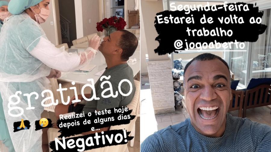 "Denilson testa negativo para covid-19 e voltará ao ""Jogo Aberto"" na segunda-feira - Instagram"