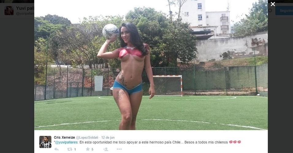 Yuvi Pallares é apresentadora na Venezuela