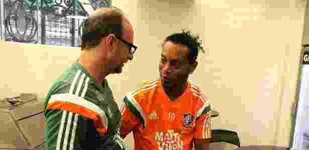Filé tratou Ronaldinho nos tempos em que o meia defendeu o Fluminense - Fluminense FC/Flickr/Divulgação