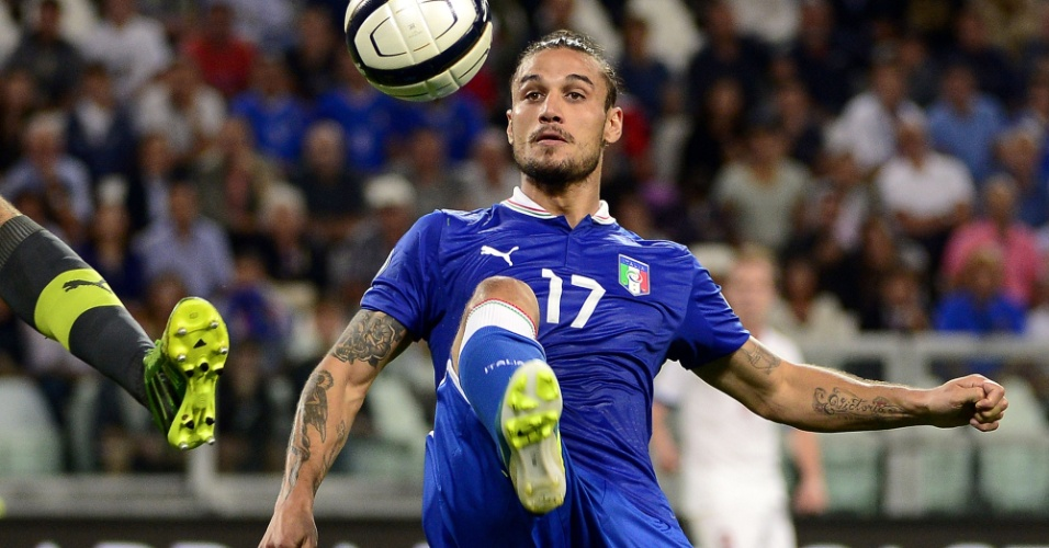 Pablo Daniel Osvaldo em ação pela seleção da Itália
