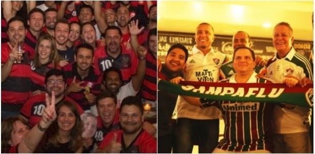 Os cariocas Flamengo e Fluminense têm torcidas apaixonadas em São Paulo - Montagem/UOL